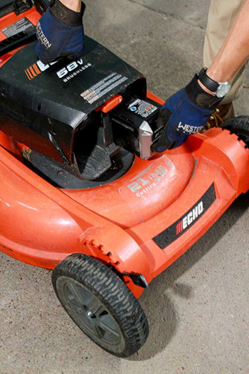Enterprise Sustainable Lawn Care with electric equipment